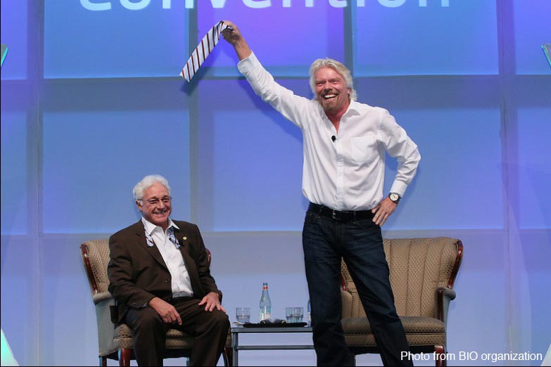 Lunch Richard Branson et Jim Greenwood l