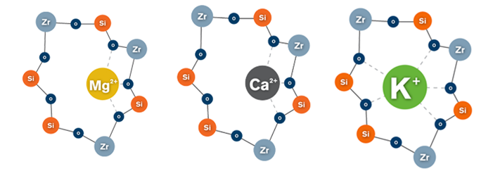 """""""ZS-9 uses technology that is hypothesized to mimic natural ion channels to make it difficult for ions other than potassium and ammonium to enter its crystalline structure."""" (Source: ZS Pharma)"""