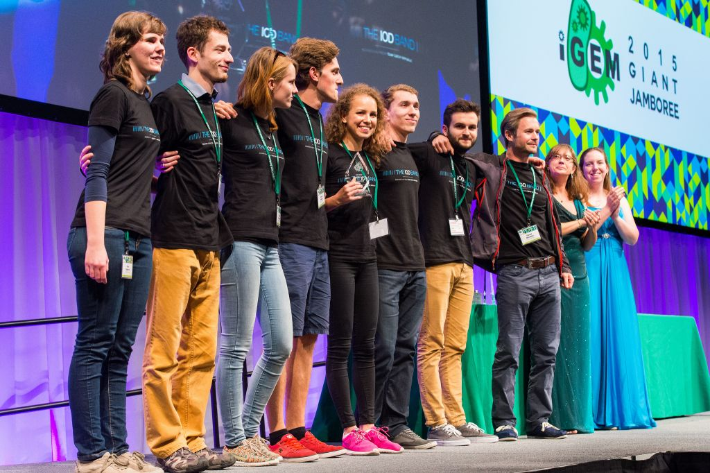 Team Czech Republic are the first iGEM team from their country and have won 1st Runner up with their 'IOD Band' Proejct (Credit: iGem Foundation & Justin Knight)