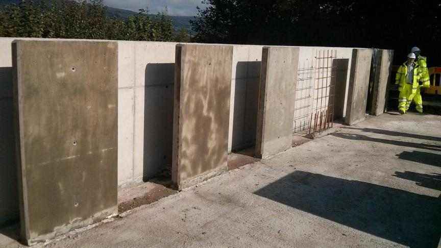 The 6 Trial Walls are located at a Castion Construction Site off the A465 in South Wales (Source: University of Cardiff)