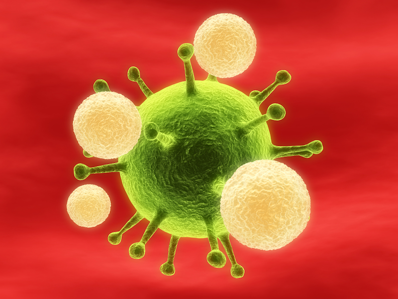 Figure. T cells attacking HIV