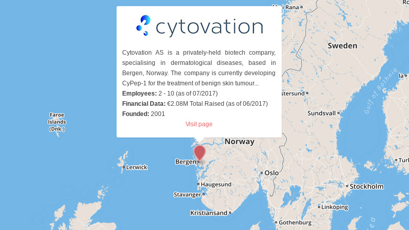 Cytovation Norway biotech warts