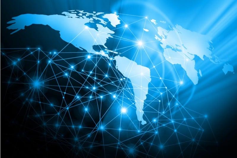 Internet map - blockchain data