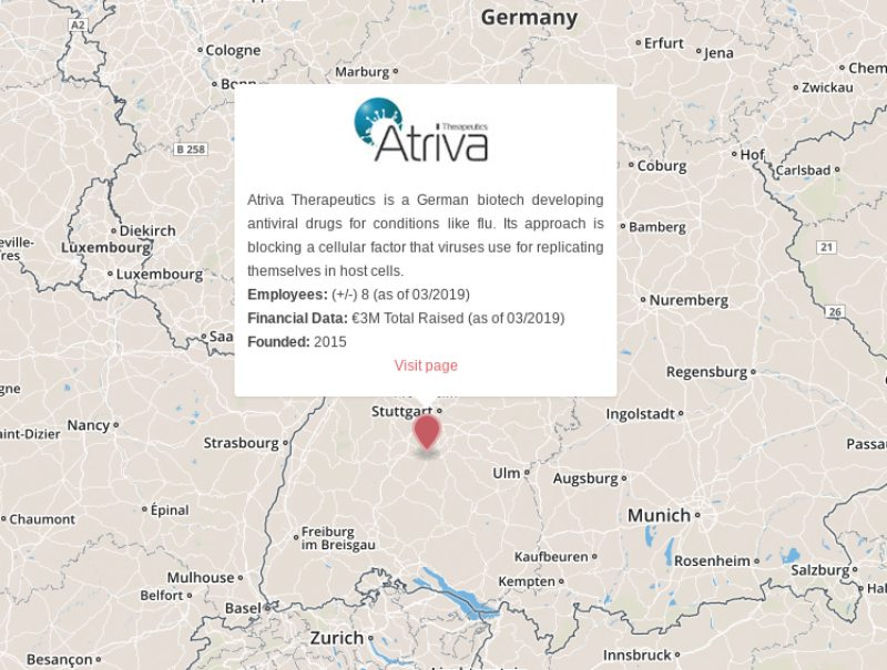 influenza virus antiviral drugs atriva therapeutics germany