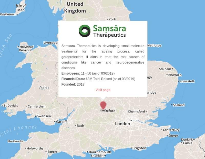 samsara therapeutics aging geroprotector