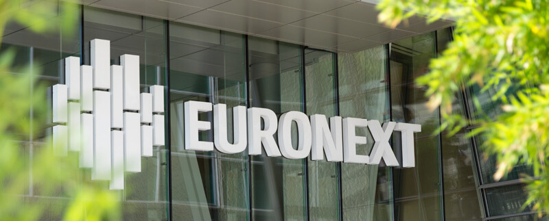 Euronext headquarters, stock exchange, biotech industry, Europe