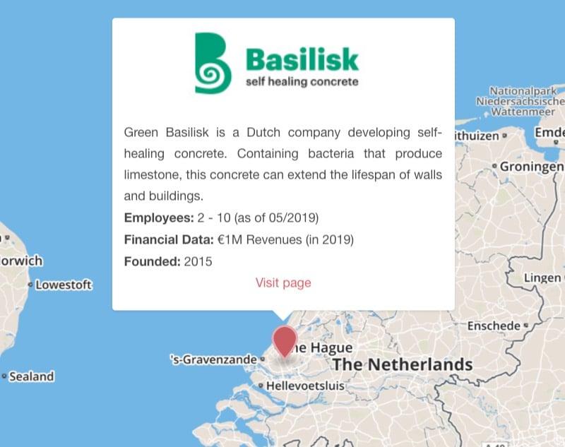 green basilisk self-healing concrete