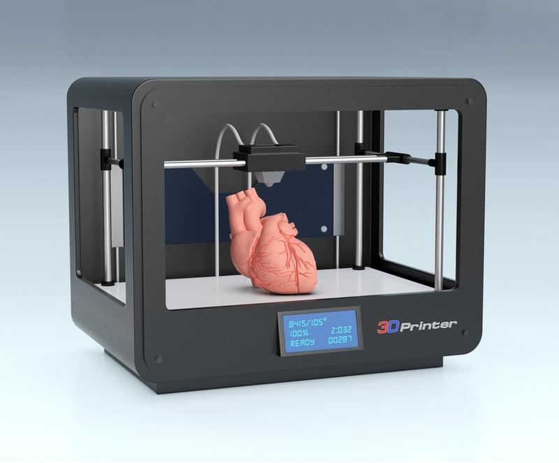 Bioprinted heart shutterstock image