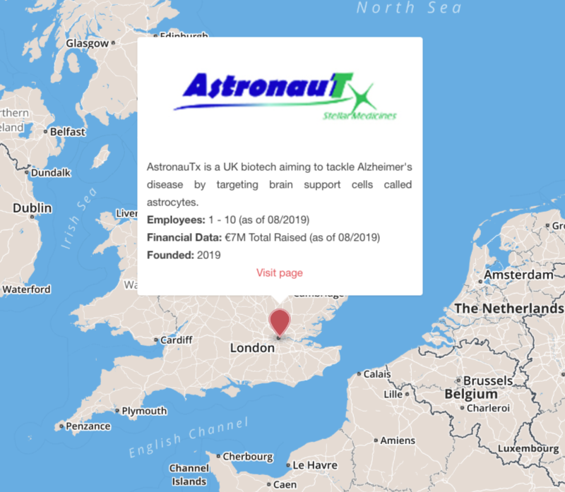 astronautx alzheimer's disease astrocyte london