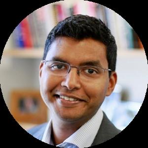 Prabhu Velusami, now Senior Director of New Ventures and Transactions Lead of Vision at Johnson & Johnson Innovation