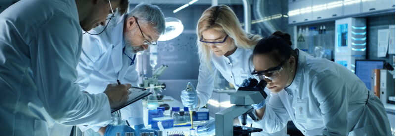 collaboration, research group, science, laboratory, biotech, life sciences, research