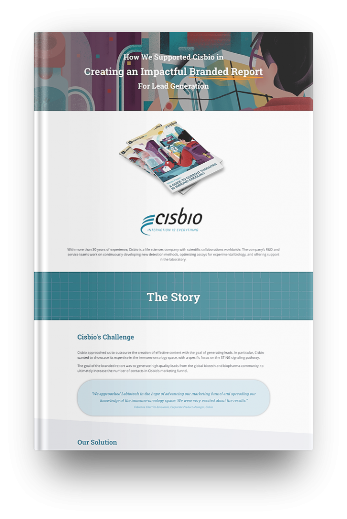 case study, cisbio, labiotech, lead generation, immuno-oncology, white paper, branded report