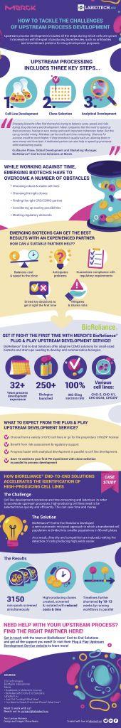process development challenges, upstream process development, Merck, Labiotech, infographic