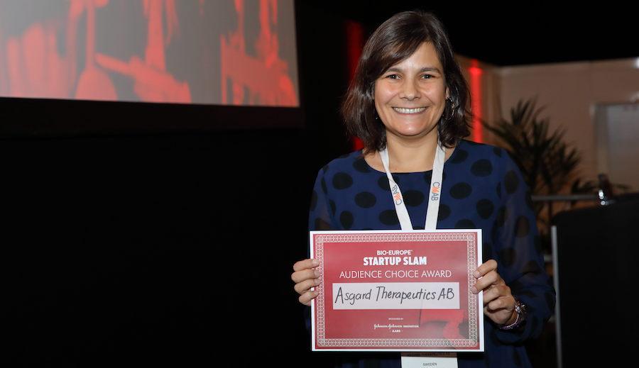 Asgard Therapeutics AB, audience choice award, Startup Slam, BIO-Europe 2019