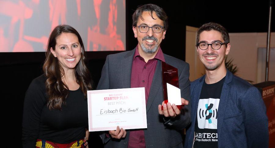 best pitch, Eisbach BIO, Startup Slam, BIO-Europe 2019