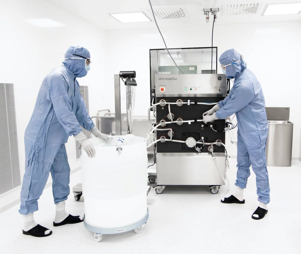 ÄKTA readyflux TFF at Biovian's GMP Viral Vector manufacturing facility