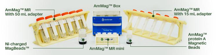 AmMag bead rack, Genscript