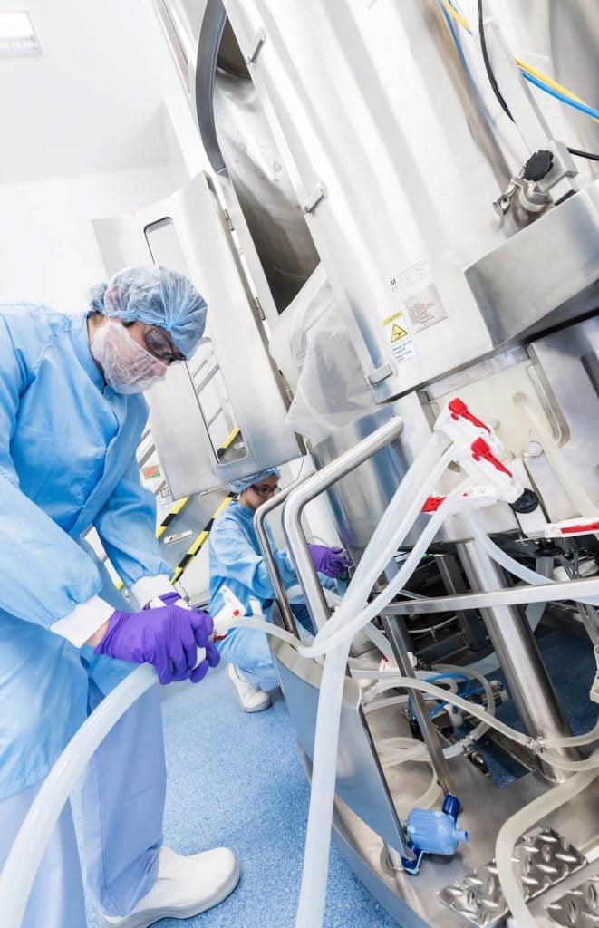 tech transfer, lab work, biologics manufacturing, GMP, biotech, Merck